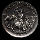 1898 Battle of San Juan HillLongines Silver Art Round
