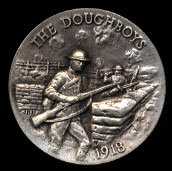 1918 The Doughboys Longines Silver Art Round