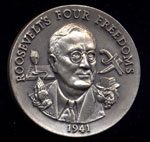 1941 Roosevelt's Four Freedoms Longines Silver Art Round