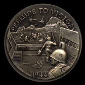 1944 Prelude to Victory Longines Silver Art Round