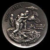 1945 Iwo JimaLongines Silver Art Round
