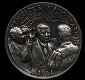 1961 Kennedy's Inauguration Longines Silver Art Round