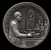 1929-1968 Reverend Martin Luther King Longines Silver Art Round