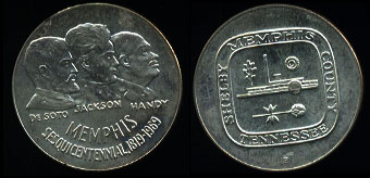 1969-P Memphis Sesqicentennial  Silver Art Round