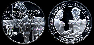 1971 Florida Sesquicentennial Andrew Jackson  Silver Art Round