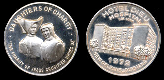 1972 Daughters of Charity Silver Art Round