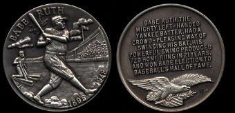 1895-1948 Babe Ruth Longines Silver Art Round