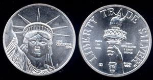 Liberty Trade Silver 1886-1986 Centennial