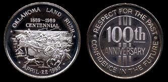Oklahoma Land Rush 1889-1989 Centennial