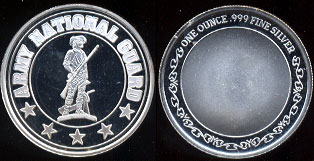 Army National Guard  One Ounce of .999 Fine Silver  Round