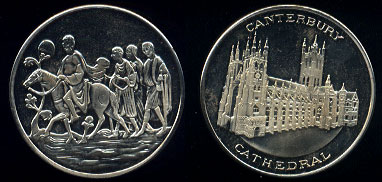 TM Canterbury Cathedral Solid Proof Medallion The Tower Mint Metal Unknown