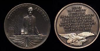 Gettysburg Address Longines Silver Art Round