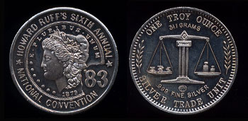 Howard Ruff's Sixth Annual National Convention 1983 Silver Round