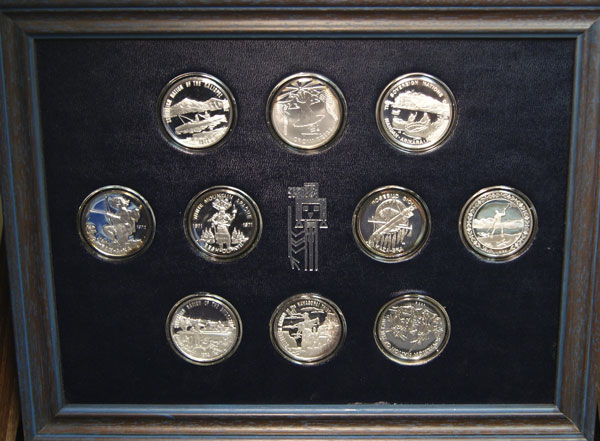 Official Coin-Medals of Indian Tribe Nations Set 10 Silver Rounds
