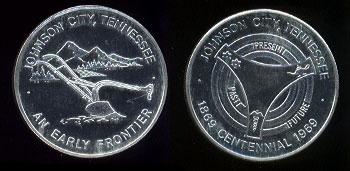 Johnson City, Tennessee Centennial SS 22.8 Gram medal