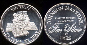 Johnson Matthey The Right to Trial by Jury Silver Round