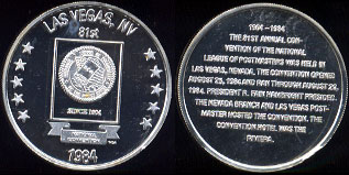 Las Vegas, NV 81nd National League of Postmasters of The United States Silver Round