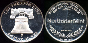 Let Freedom Ring Northstar Mint Silver Art Round