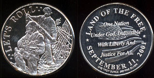 Let's Roll September 11, 2001 Silver Round