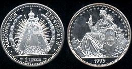 Madonna Von Einsiedeln 1 Unze ( 1 Ounce) of .999 Fine Silver 1993 Silver Round