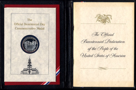 The Official Bicentennial Day Commemorative - July 4th, 2976 Solid Sterling Silver Minted By Franklin Mint Silver Round