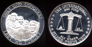 Only God Conquers -- Lest We Forget Silver Round