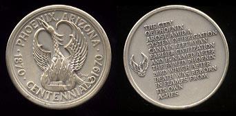 Phoeniz, Arizona Centennial Silver Medal