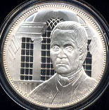 Franklin Mint's The Official Signers Medals Roger Sherman Connecticut 1 oz Sterling Silver Round