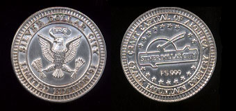 Silver Dollar City, Missouri 21.9 Gram Pure Silver medal