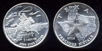 Texas Precious Metals 2013 .999 Fine Silver 1 Troy Ounce