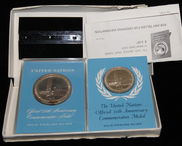 1970 The Official United Nations 25th Anniversary Commemorative Medal Set