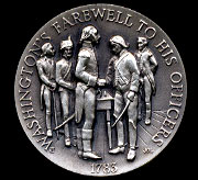 Washington Farewell to his Officers Longines Silver Art Round