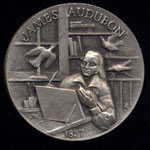 1827 James Audubon Longines Silver Art Round