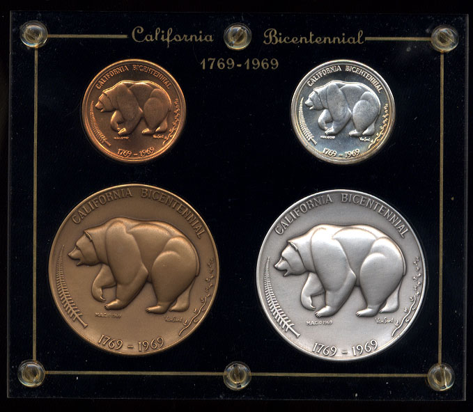 California Bicentennial Set 1769-1969 In original Capitol HolderCalifornia Bicentennial Set 1769-1969 In original Capitol Holder