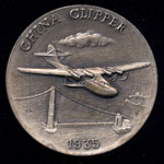 1935 China Clipper Longines Silver Art Round