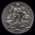 Washington Crossing the Delaware Longines Silver Art Round