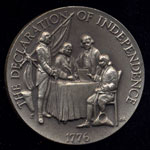 1776 The Declaration of Independence Longines Silver Art Round