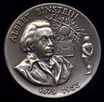 1879-1955 Albert Einestein Longines Silver Art Round