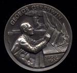 1898-1937 George Gershwin Longines Silver Art Round
