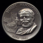 1898-1961 Ernest Hemingway Longines Silver Art Round