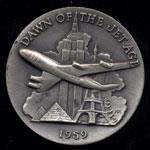 1959 Dawn of the Jet Age Longines Silver Art Round