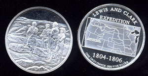 Lewis & Clark Expedition Proof Silver Round