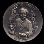 1835-1910 Mark Twain Longines Silver Art Round