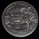 1902 Model T Ford Longines Silver Art Round