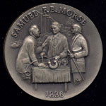 1836 Samuel F.B. Morse Longines Silver Art Round