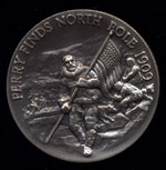 1909 Perry Finds North Pole Longines Silver Art Round