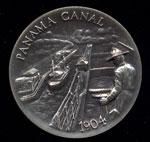 1904 Panama Canal Longines Silver Art Round