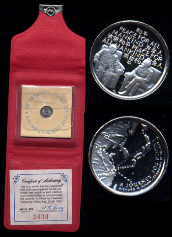 President Nixon's Visit to China Eyewitness Platinum Mini-Coin