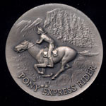 1860 The Pony Express Longines Silver Art Round