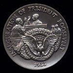 1933 Inauguration of President Roosevelt Longines Silver Art Round
